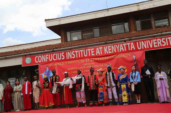 Kenyans showcase Chinese traditional costumes
