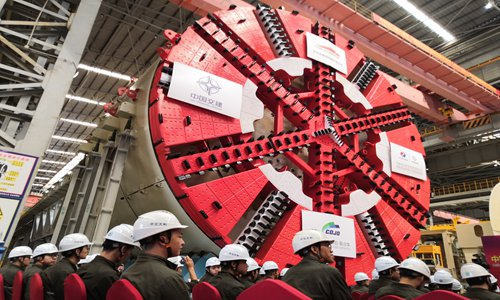 Super-large boring machine set for delivery