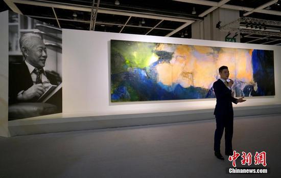 Zao Wou-Ki's artwork sets auction record in Hong Kong