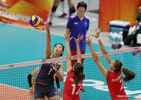 China beats Bulgaria 3-1 at 2018 Volleyball Women's World Championship