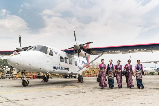 Nepal's national flag carrier begins maiden passenger flight to gateway of Mt. Qomolangma with Chinese-made plane