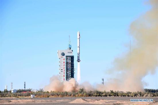 China launches new remote sensing satellites in Jiuquan