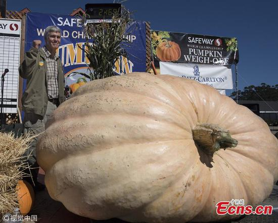 984kg pumpkin wins Half Moon Bay contest