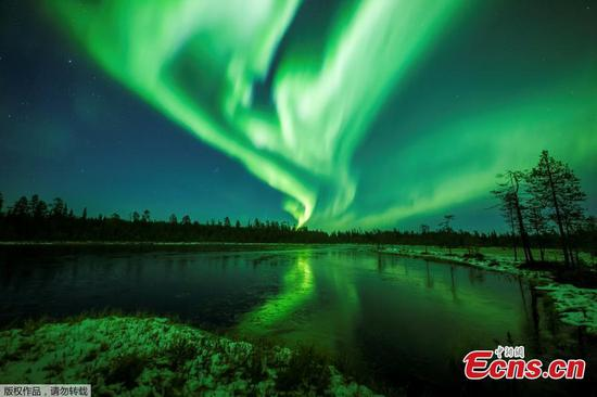 Northern Lights dance in Finland's night sky