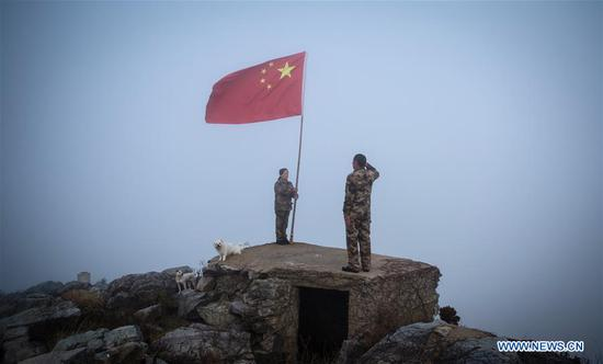 Frontier defence policeman in Jiangsu