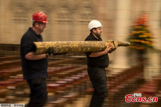 York Minster's grand organ pipes dismantled for refit