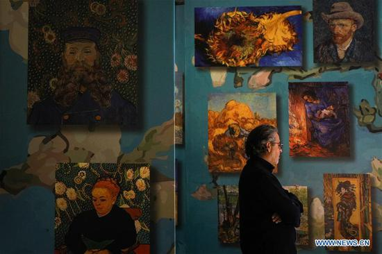 'Van Gogh: the Immersive Experience' exhibition held in Brussels, Belgium