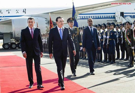 Li arrives in Tajikistan for SCO meeting, official visit
