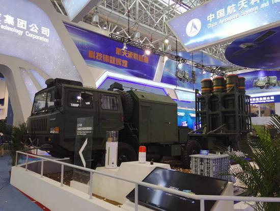 LY-80 surface-to-air missile system at Airshow China 2016 (Photo courtesy shobserver.com)