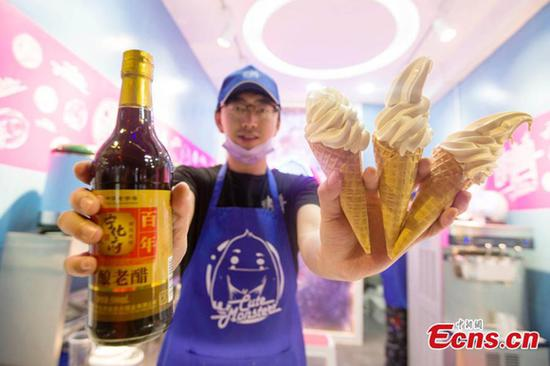 Innovative Shanxi vinegar ice-cream raises eyebrows online