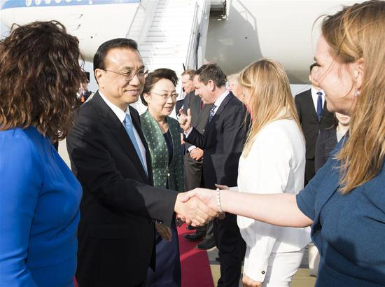 Li arrives in Netherlands for official visit