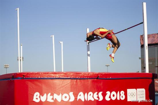 China's Chen wins gold of men's high jump at Youth Olympic Games