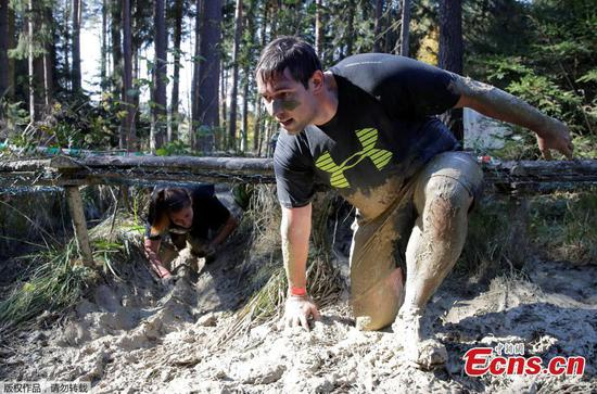 'Wild Boar Dirt Run' obstacle course in Austria