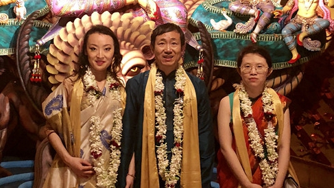 Chinese envoy performs Tai Chi to mark Indian festival of Durga Puja