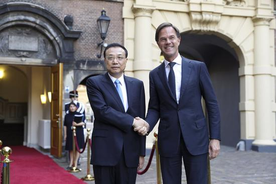 China vows to work with Netherlands to safeguard multilateralism, free trade