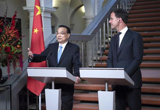 China, Netherlands jointly urge free trade against protectionism
