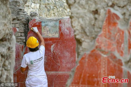 Frescos restoration underway in Pompeii