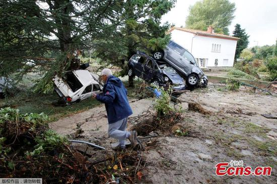 Flash floods in southern France kill at least 12 people