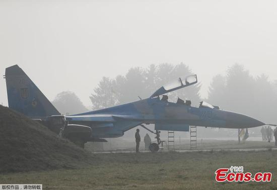 U.S. pilot killed as Ukrainian Su-27 air force jet crashes in training