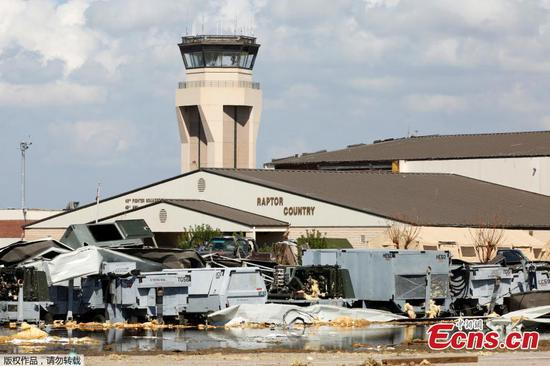 Tyndall Air Force Base suffers damage during Hurricane