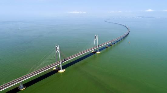 The Hong Kong-Zhuhai-Macao Bridge,file photo. (Photo/Xinhua)