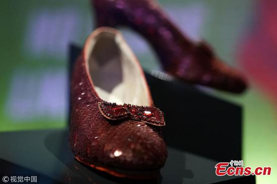 Ruby slippers on display at Museum of American History