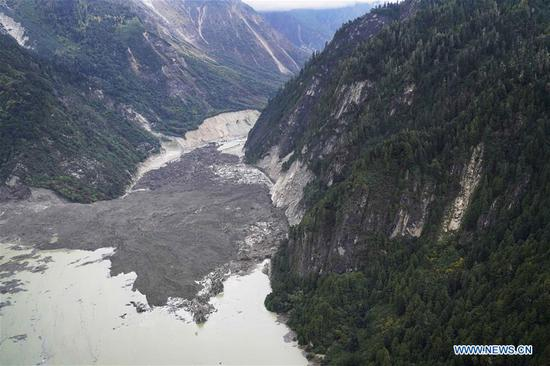 People evacuated following barrier lake formation in Tibet
