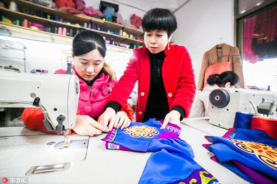 Guizhou woman finds success in clothing