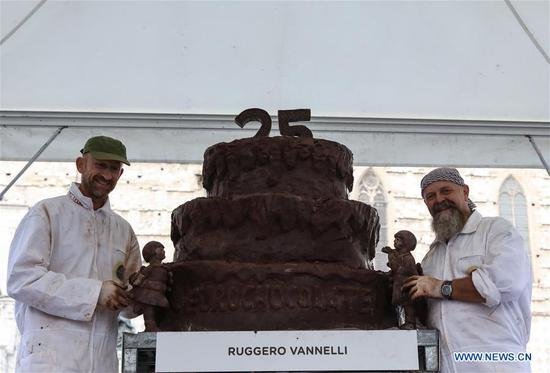 25th int'l chocolate festival 'Eurochocolate' held in Perugia, Italy