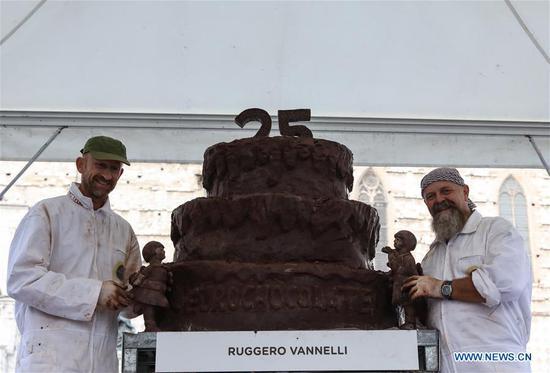 """第25届国际巧克力节"""" Eurochocolate""""在意大利佩鲁贾举行"""