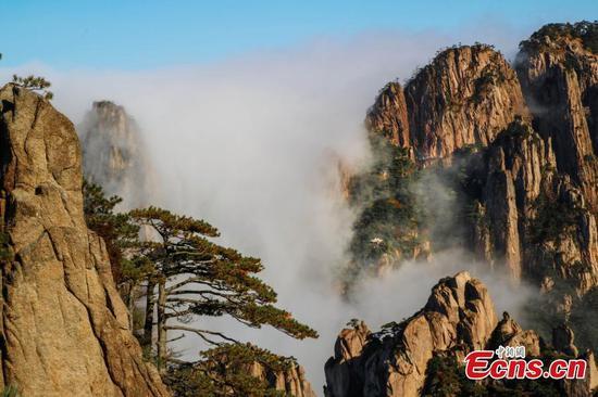 Mount Huangshan in autumn beauty