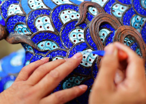 Intangible cultural heritage inheritor of Lin's cloisonne