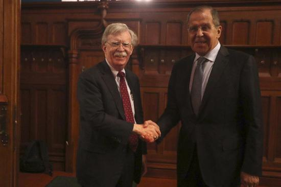 Bolton in Moscow for tough talks over INF