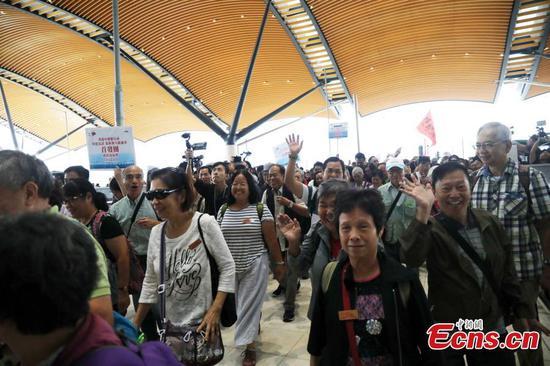 港珠澳大桥香港边界区启用