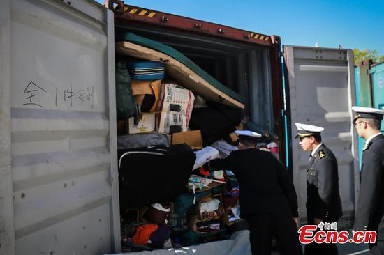 Tianjin Customs burn imported garbage