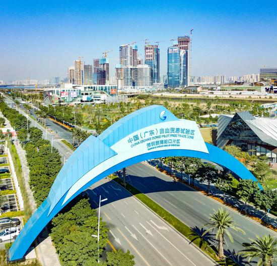 A view of Qianhai and Shekou Area in the China (Guangdong) Pilot Free Trade Zone. (Photo provided to chinadaily.com.cn)