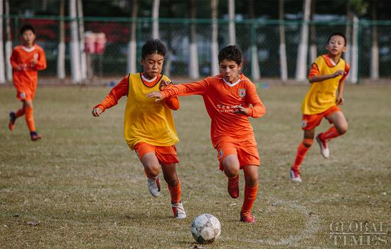 A day in the life of young soccer talents at the Shandong Luneng Taishan Football School