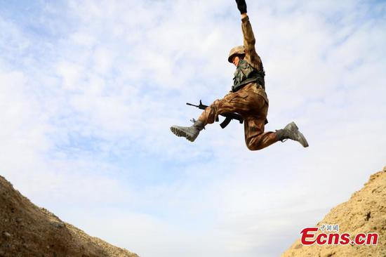 New recruits undergo training in Xinjiang