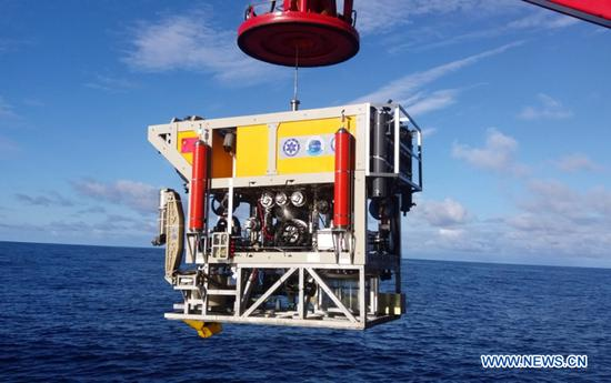 China's underwater robot sets depth record
