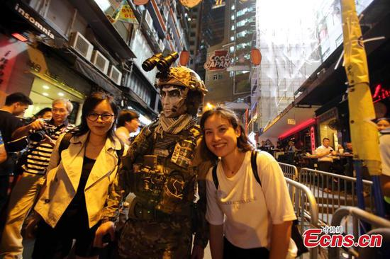Halloween celebrated in Hong Kong