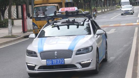 China's first self-driving taxis starts test run in Guangzhou