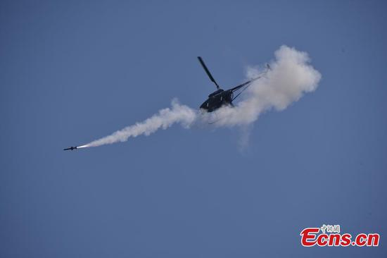 China's missile-armed unmanned helicopter passes testing