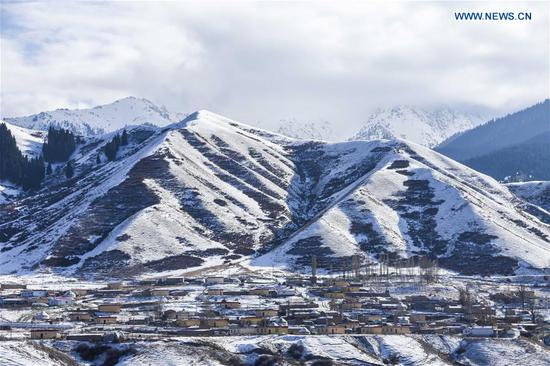 Snow scenery in Nanshan scenic spot in Xinjiang