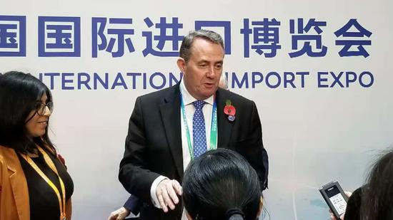 UK Trade Minister Liam Fox: CIIE showcases UK innovation, services sector