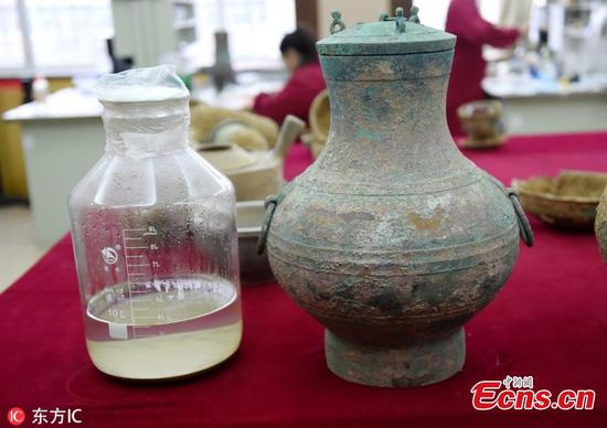 Chinese archaeologists discover 2,000-year-old liquor in ancient tomb