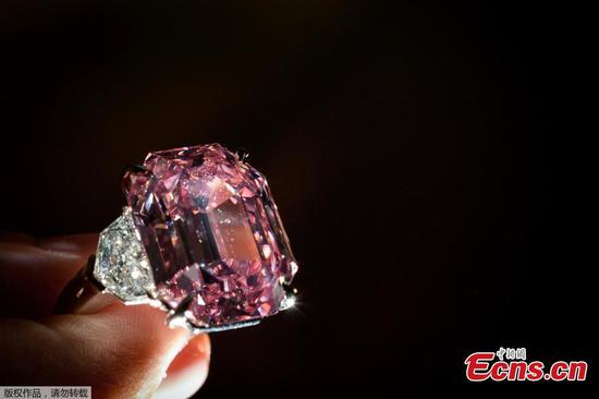Pink Legacy diamond expected to sell for up to $50 mln at Geneva auction