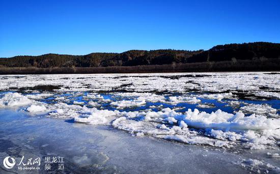 黑龙江流冰
