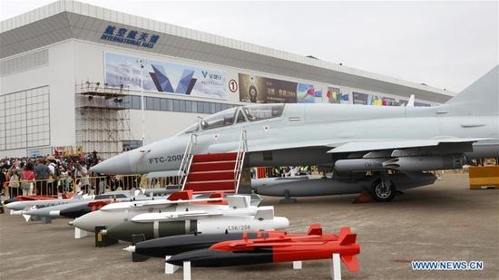 People visit Airshow China in Zhuhai, China's Guangdong