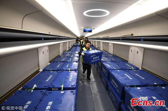 Fuxing bullet train joins battle to deliver for Singles' Day