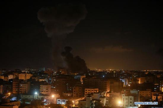Israel launches airstrike on Hamas TV station in Gaza